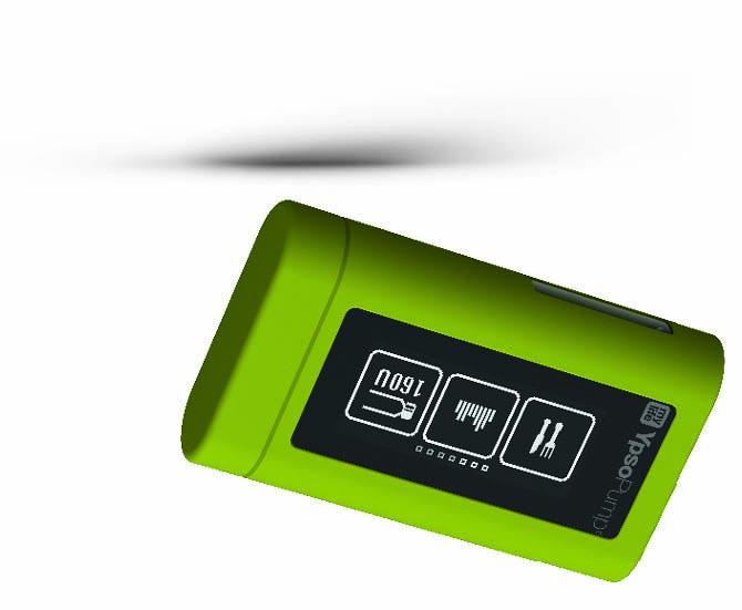 ypsopump housse silicone verte avec clip membres abd
