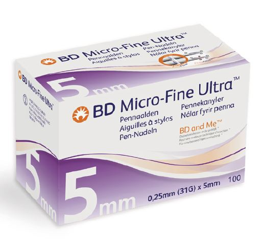 bd micro-fine 5 mm   100 pieces